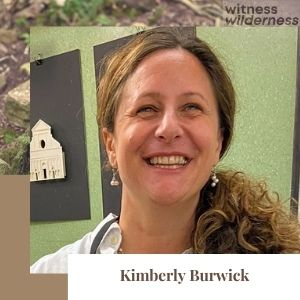 Kim Burwick poet woman with brown hair smiling