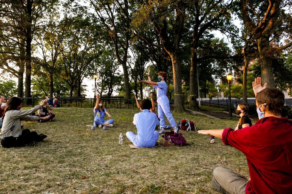 andrea haenggi, moss event at East River Park, New York City
