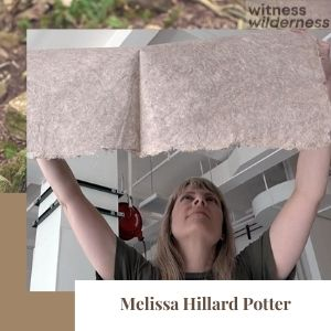 melissa potter artist holding paper